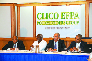 Some members of the CLICO EFPA group including (l-r) William Aguiton, Selwyn Ryan, Norris Gomez and Peter Permell