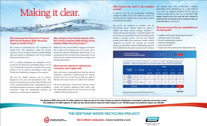 NGC Advertisement for Beetham Water Recycling Project – Centre Spread | March 2014