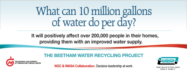 NGC advertisement for Beetham Water Recycling Project – Ten Million Gallons | March 2014