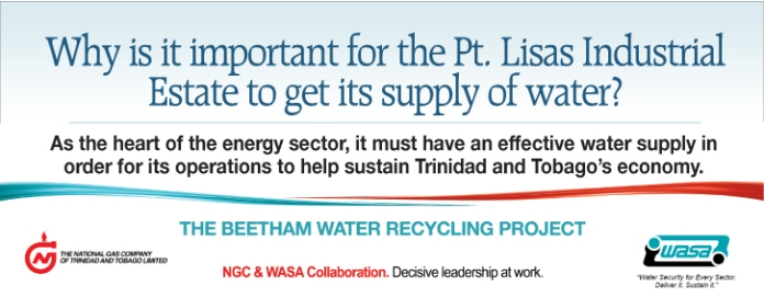 NGC a\Advertisement for Beetham Water Recycling Project – Point Lisas Supply | March 2014