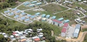 HDC housing in central Trinidad. Chaguanas is the fastest growing town in T&T.
