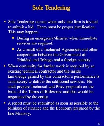 sole-tendering
