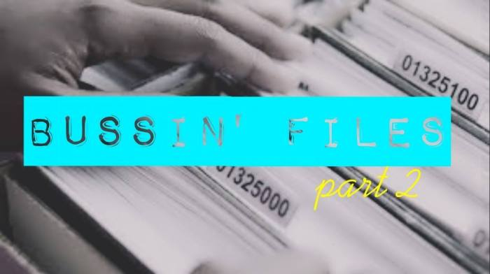 EVENT: BUSSIN' FILES: The saga continues