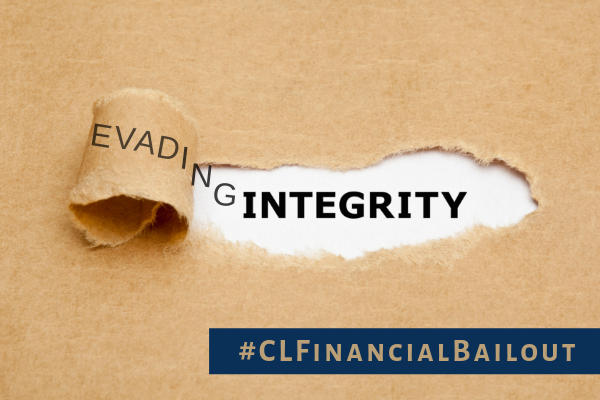 CL Financial bailout – Evading Integrity
